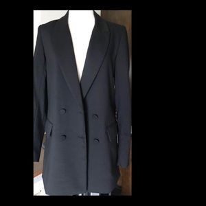 H&M Double Breasted Black Blazer Size 6